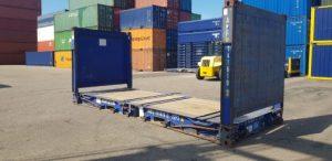 Otwarty kontener morski (flat track)